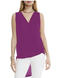 Two By Vince Camuto - Faux Wrap High/low Top - Lyst