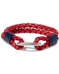 Polo Ralph Lauren - Braided Leather Wrist Strap Bracelet - Lyst
