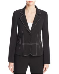 Finity - Notch Lapel Topstitched Blazer - Lyst