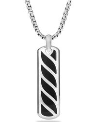 David Yurman | Graphic Cable Ingot Tag With Black Onyx | Lyst