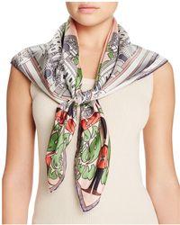 Kinloch - Buckingham Print Silk Scarf - Lyst