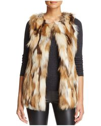Love Token - Riva Patched Faux Fur Vest - Lyst
