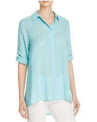 Chaus - Roll Tab High/low Shirt - Compare At $69 - Lyst