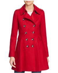 Via Spiga - Skirted Double-breasted Button Front Coat - Lyst