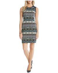 Karen Kane - Print Jacquard Dress - Lyst