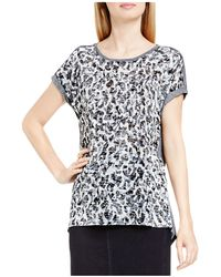 Two By Vince Camuto - Two By Vince Camtuo Abstract Animal Print Burnout Tee - Lyst