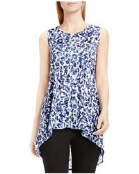 Two By Vince Camuto - Two By Vince Camtuo Abstract Animal Print Burnout Tank - Lyst