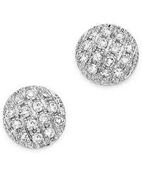 Dana Rebecca - Diamond Lauren Joy Mini Earrings In 14k White Gold - Lyst
