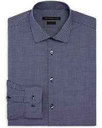 John Varvatos - Micro Check Slim Fit Stretch Dress Shirt - Lyst