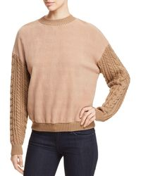 Weekend by Maxmara - Huesca Cable-knit Sleeve Sweatshirt - Lyst