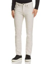 Naked & Famous - Superskinny Guy Speckled Super Slim Fit Jeans In White - Lyst
