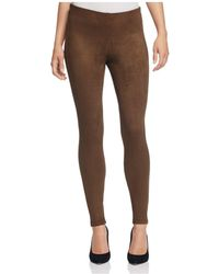 B Collection By Bobeau - Roland Faux Suede Leggings - Lyst