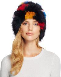 Loeffler Randall - Tall Fox Fur Hat - Lyst
