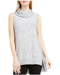 Two By Vince Camuto - Two By Vince Camtuo Sleeveless Cowl Neck Jumper - Lyst