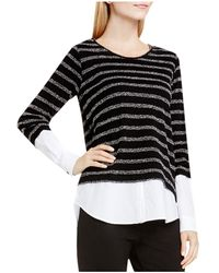 Two By Vince Camuto - Two By Vince Camtuo Striped Layered-look Jumper - Lyst