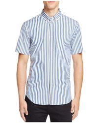 Haspel - Rampart Stripe Regular Fit Button-down Shirt - Lyst