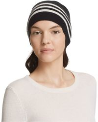 Theory - Hody Striped Cashmere Beanie - 100% Bloomingdale's Exclusive - Lyst