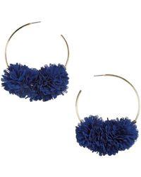 BaubleBar - Sanchia Floral Cluster Hoop Earrings - Lyst