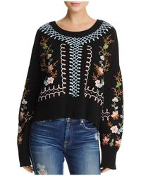French Connection - Bijou Floral-embroidered Sweater - Lyst
