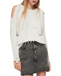 AllSaints - Suzie Snap-sleeve Sweater - Lyst