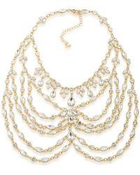 ABS By Allen Schwartz - Statement Crystal Bib Necklace - Lyst