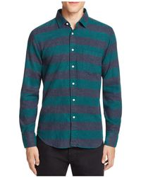 Haspel - Constance Flannel Regular Fit Button-down Shirt - Lyst