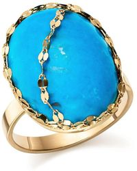 Lana Jewelry - 14k Yellow Gold Turquoise Ring - Lyst