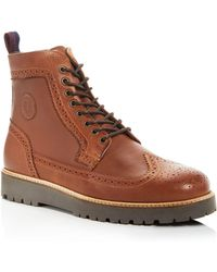 Fred Perry - Northgate Wingtip Lace Up Boots - Lyst
