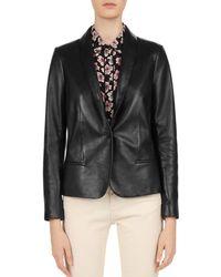 Gerard Darel - Susie Shawl Collar Leather Blazer - Lyst