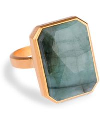 Ringly - Aries Activity Tracker Smart Ring In Emerald - Lyst
