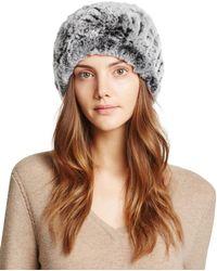 Surell - Rabbit Fur Slouch Hat - Lyst