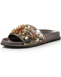 Kenneth Cole - Women's Xenia Sequin-embellished Pool Slide Sandals - Lyst