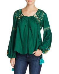 Kas - Embroidered Peasant Blouse - Compare At $210 - Lyst
