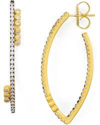 Freida Rothman - Oval Hoop Earrings - Lyst