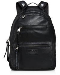 John Varvatos - Perforated Leather Backpack - Lyst