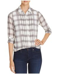 Foxcroft - Buffalo Plaid Blouse - Lyst