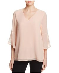 CALVIN KLEIN 205W39NYC - Bell Sleeve Crepe Top - Lyst