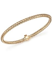 Bloomingdale's - Basket Weave Bangle In 14k Yellow Gold - Lyst