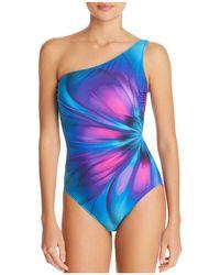 Gottex - Belle Fleur Square Neck One Piece Swimsuit - Lyst