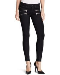 PAIGE - Denim Jeans - Transcend Edgemont Ultra Skinny In Black Shadow - Lyst