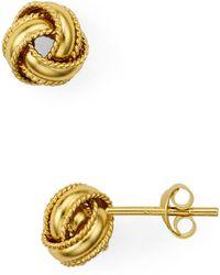 Argento Vivo - Triple Knot Stud Earrings - Lyst