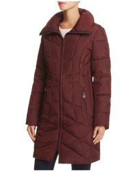 Anne Klein - Wing Collar Puffer Coat - Compare At $240 - Lyst