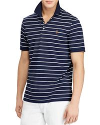Polo Ralph Lauren - Striped Classic Fit Soft-touch Polo Shirt - Lyst