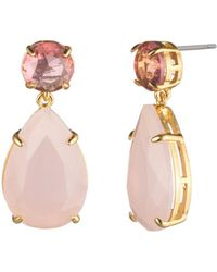 Carolee - Round & Pear Double Drop Earrings - Lyst