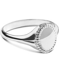 Shinola - Sterling Silver Coin Edge Petite Signet Ring - Lyst