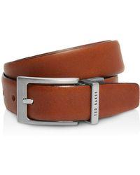 Ted Baker - Karmer Reversible Leather Belt - Lyst