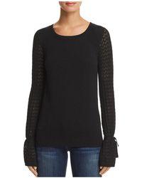Aqua - Bell Sleeve Sweater - Lyst