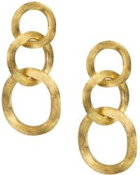 Marco Bicego - 18k Yellow Gold Jaipur Three Link Earrings - Lyst