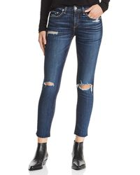 Rag & Bone - Distressed Ankle Skinny Jeans In Franklin With Holes - Lyst