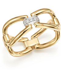 Roberto Coin - 18k White & Yellow Gold Classic Parisienne Diamond Ring - Lyst